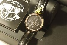 Mathey Tissot Gents Classic Moon phase watch Black/Rose Gold Brand New