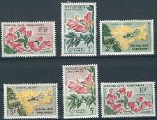 Gabun - Freimarken Blüten Satz ungebraucht Falz 1961 Mi. 160-165