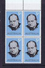 Australian Pre-Decimal Stamps 1965 5d Sir Winston Churchill Block 4 MNH