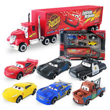 Disney Pixar Car No.95 Mack Truck Lightning McQueen Toy Car 6pc Set Xmas Gift