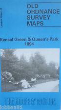 OLD ORDNANCE SURVEY  MAP KENSAL GREEN & QUEEN'S PARK LONDON 1894 SHEET  47 NEW