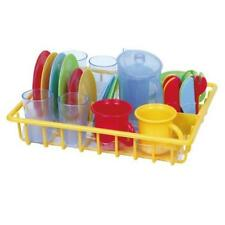 Pretend Play Dishes With Dish Drainer Kids Kitchen Accessories Toys Nice Playgo