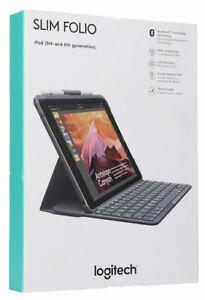 Slim Folio Keyboard Folio Case [Logitech case Apple iPad 5th 6th Generation] NEW