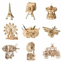 Robotime 3D Wooden Puzzle Laser Cut Model Handmade Crafts Toy for Girls Kids