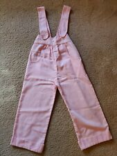 Vintage Evy Of California Toddler Girls Pink Overalls striped Trim 4T