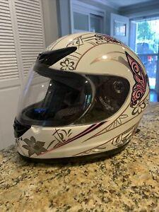 FMVSS 218 DOT Motocross / ATV helmet /motorcycle Women's Pink Pinstripe