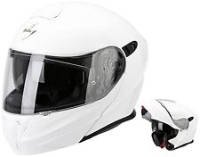 CASCO MOTO MODULARE APRIBILE SCORPION EXO 920 SOLID BIANCO LICIDO WHITE TG XL