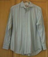 Robert Graham Men's Long Sleeve Shirt - Size M 100% Cotton Blue