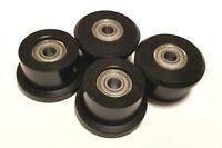 Set of 4 Wheels/rollers for Total gym models 1000 1400 1500 1600 1700 1800 1900
