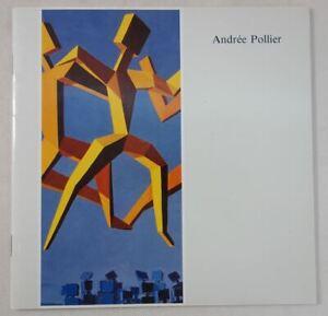 Andrée POLLIER exposition 1991 Chambery Musée Savoisien RARE plaquette Peinture