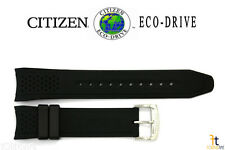 Citizen Eco-Drive CA0420-07E Original 22mm Black Rubber Watch Band CA0421-04E