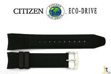 Citizen Eco-Drive S082781 Original 22mm Black Rubber Watch Band Strap S082790
