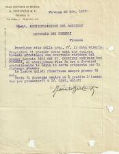 Lettera Autografo Renato Bellenghi Metodo Chitarra Musica Forlivesi Firenze 1923