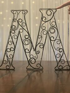 Pottery Barn Wire Letter M Wall Art