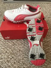 Brand new puma faas Women's white and rouge red (pink) golf shoes 7 M
