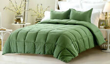 Striped Moss Down Alternative Comforter 200 GSM All Seasons Cal King Size