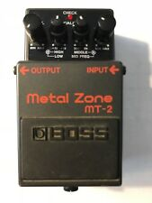 Boss Metal Zone MT2 Distortion Guitar Effect Pedal 761294020937 Made In Taiwan
