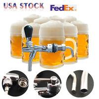 Kegerator Draft Beer Faucet Flow Controller chrome plating Shank Tap Kit New
