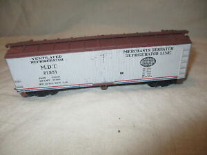 Vintage HO Merchants Despatch ventilated refrigerator reefer