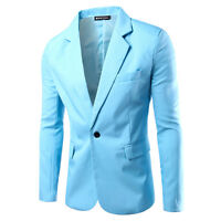 Fashion New Men's Slim Fit One Button Suit Blazer Coats Jackets Casual Tops