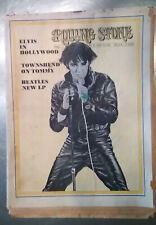 ROLLING STONE MAG. JULY 12, 1969 #37-AWESOME ISSUE! ELVIS/BEATLES/WHO