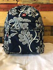 Quicksilver Backpack Blue white Floral Print Sz L.