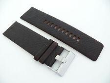 Herren Uhren armband Echtleder 28 mm Dunkelbraun für DIESEL Watch band Leather