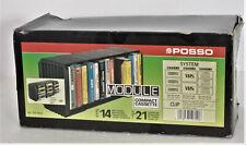 Posso Modulo contenitore per n. 14 custodie audio cassette nuovo