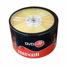 50 Maxell DVD-R 1-16x 4.7gb 16x MAX MATT GOLD TOP BLANK DISCS, SHRINK WRAP
