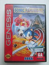 Sonic Spinball (Sega Genesis, 1993) Tested (Game & Box Only) NTSC-US-CA