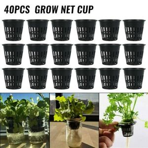 40pcs Heavy Duty Hydroponic Mesh Pot Net Cup Basket Hydroponic Plant Grow AU