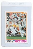 WALTER PAYTON 1982 TOPPS In Action Chicago BEARS Football CARD #303 Sweetness