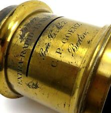 Extra Rapid Lynkeioskop Serie C No 7 Messing Goerz Berlin Lens No 9297 jj035