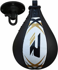 RDX Leather Speed Ball & Swivel Boxing Punch Bag MMA Punching Training Pear  CA