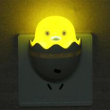Yellow Duck LED Night Light 220V AC Plug In Saving Children Nursery Baby Safety