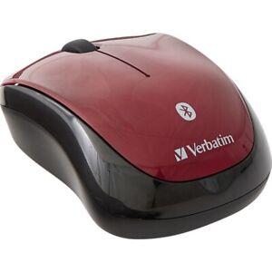 Verbatim 70240 Bluetooth Wireless Tablet Multi-Trac Blue Led Mouse Garnet