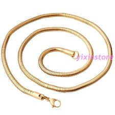 """24"""" Simple Style Mens Necklace 316L Stainless Steel Gold Tone Link Chain Gift"""