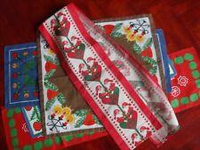 set-5 Vintage Christmas swedish Decorations linens runner