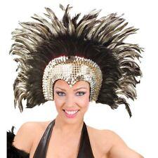 FEDER KOPFSCHMUCK # Karneval Fasching Rio Brasilien Travestie Show silber 6608