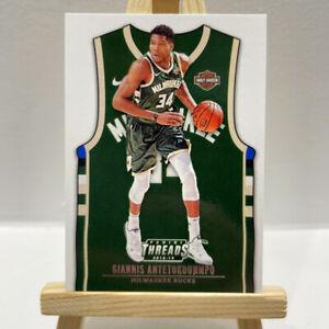 2018-19 Panini Threads Giannis Antetokounmpo Bucks Jersey Basketball SP Card 180