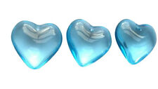 5 Light Sky Blue Smooth 25mm Heart Chandelier Crystals Shabby Chic
