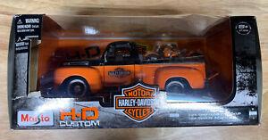 Maisto H-D Custom Harley Davidson 1948 Ford F1 Pickup And Ford FL Panhead 1:24