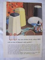 VINTAGE 1930's ART DECO ADVERTISING LEAFLET FLYER - JOHNSON'S TOILET POWDER