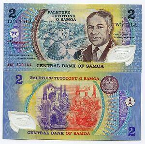 Samoa P31a 1990 2 Tala UNC Polymer Banknote AAE Prefix