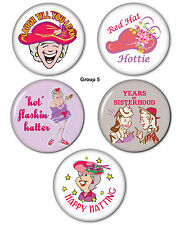 Button Magnet combo, 5 pcs (gr 5) Red Hat Party Favors Giveaways