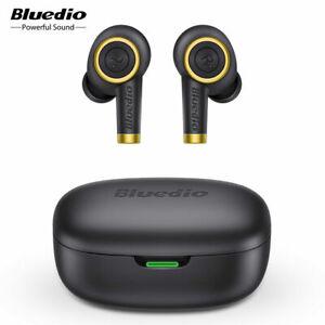Bluedio Particle Bluetooth Earphone Wireless Headset Waterproof Black