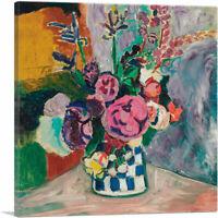 ARTCANVAS Still Life of Peonies in a Vase 1907 Canvas Art Print by Henri Matisse