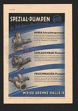 HALLE/SAALE, Werbung 1939, Weise Soehne Spezial-Pumpen für Zellulose-Papier-Fabr