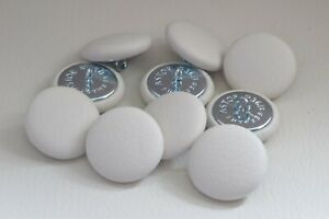 10 Upholstery buttons in White  leather 25mm