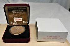 JOHN ELWAY Collectors Bronze Coin / Medallion Mint in Box w/ COA